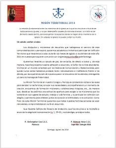Carta Mision Teritorial