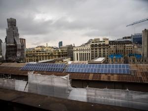 Paneles solares fotovoltaicos en la Catedral
