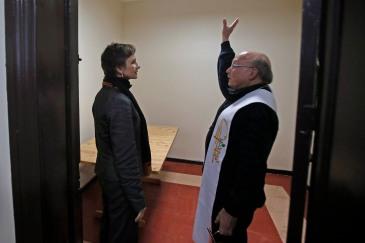 Alcaldesa Carolina Tohá con el Padre Pepe